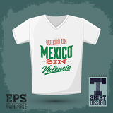 Graphic T- shirt design Stock Photography