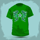 Graphic T- shirt design - Rockstar Abstract design Stock Image