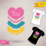 Graphic T- shirt design you Vector illustration Stock Photography