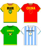Graphic t shirts with national Royalty Free Stock Images