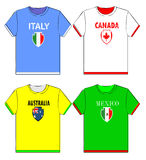 Graphic t shirts with national Stock Photo