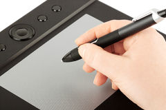 Graphic tablet Royalty Free Stock Photos