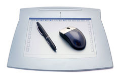 Graphic tablet Royalty Free Stock Image