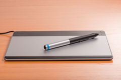 Graphic tablet of the designer Royalty Free Stock Photo