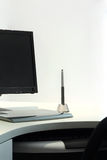 Graphic tablet on desk Royalty Free Stock Image
