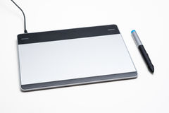 Graphic tablet with digital pen Royalty Free Stock Photos
