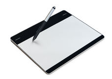 Graphic tablet isolated clipping path inside on white Stock Images