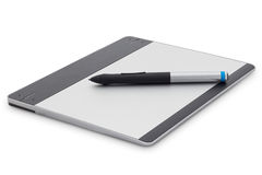 Graphic tablet isolated on white background with clipping path Stock Image