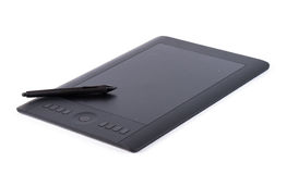 Graphic tablet isolated on white background. Stock Image