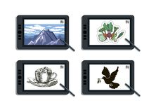 Graphic tablet and its capabilities Royalty Free Stock Images