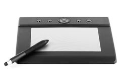 Graphic tablet with pen Royalty Free Stock Photos