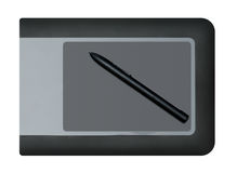 Graphic Tablet with Pen Stock Images