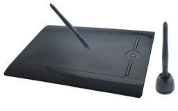 Graphic tablet with pen close up shoot Royalty Free Stock Photos