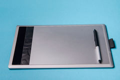 Graphic tablet with pen for illustrators and designers, Royalty Free Stock Images