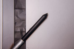 Graphic tablet with pen for illustrators and designers, Stock Image