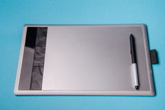 Graphic tablet with pen for illustrators and designers, Royalty Free Stock Image