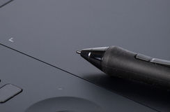 Graphic tablet with pen for illustrators and designers Stock Photo