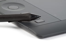 Graphic tablet with pen for illustrators and designers Stock Image