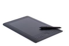 Graphic tablet with pen for illustrators and designers Stock Photos