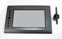 Graphic tablet with pen for illustrators and designers, isolated Stock Image