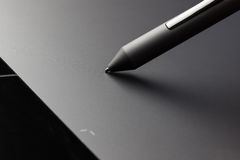 Graphic tablet stylus detail Stock Images
