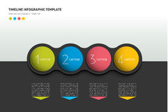 Graphic template, workflow, option banner, chart, scheme, diagram. Horizontal line. Royalty Free Stock Photo