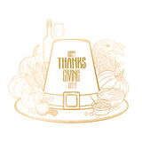 Graphic Thanksgiving day hat Stock Photos
