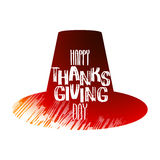 Graphic Thanksgiving day hat Stock Image