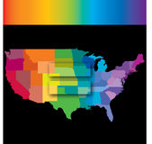 A graphic to celebrate same sex marrige. A graphic to celebrate America's Supreme Court ruling regarding same sex marrige Stock Photos