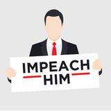Graphic to Impeach the President Stock Photography