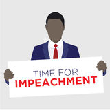 Graphic to Impeach the President Royalty Free Stock Photo