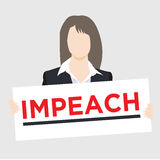 Graphic to Impeach the President Royalty Free Stock Photography