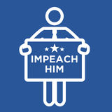 Graphic to Impeach the President Stock Photo