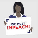 Graphic to Impeach the President Royalty Free Stock Images