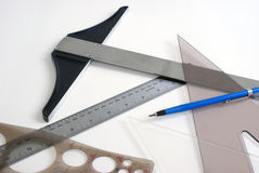 Graphic Tools. An assortment of graphic design tools Royalty Free Stock Photography