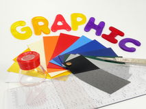 Graphic Tools. Tools for the commercial artist Stock Photo