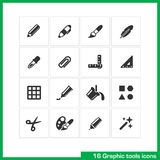 Graphic tools icon set. Royalty Free Stock Image