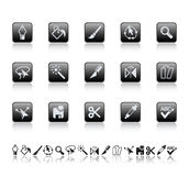 Graphic tools icons. Stock Photography