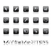 Graphic tools icons. Stock Photo
