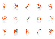 Graphic tools icons. Royalty Free Stock Images