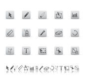 Graphic tools icons. Royalty Free Stock Photography