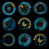 Graphic touch user interface HUD. Royalty Free Stock Image