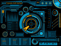 Graphic touch user interface HUD. stock illustration