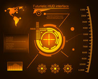 Graphic touch user interface HUD. Royalty Free Stock Photo