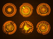 Graphic touch user interface HUD. Stock Photos