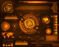 Graphic touch user interface HUD. Stock Photo