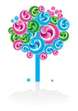 Graphic tree icon Royalty Free Stock Photography