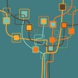 Graphic tree pattern Stock Image