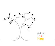 Graphic tree with text position background Royalty Free Stock Photo