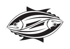 Graphic tuna fish Stock Photo
